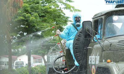 Cận cảnh xe đặc chủng phun khử khuẩn bệnh viện K Tân Triều