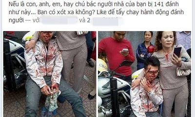 Xôn xao clip 141 đánh người vi phạm be bét máu