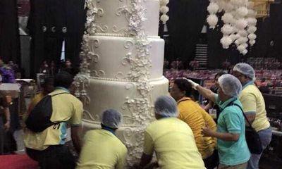 """Chiêm ngưỡng chiếc bánh cưới """"khổng lồ"""" nhất thế giới"""