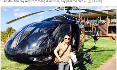 Bằng Kiều dùng trực thăng đi ăn trưa: Lời bông đùa bỗng bị ném đá