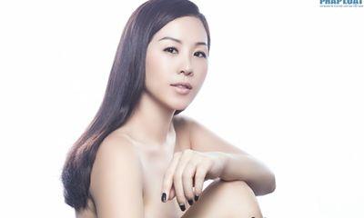 Hoa hậu Thu Hoài e ấp chụp ảnh bán nude