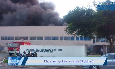 Chùm ảnh: Toàn cảnh vụ cháy Khu công nghiệp VSIP Bình Dương
