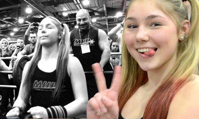 Hot girl 13 tuổi chinh phục mức tạ nặng 110kg