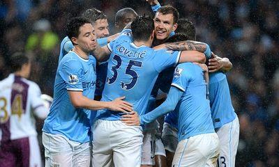 Hủy diệt Aston Villa 4-0, Man City rất gần ngôi vương