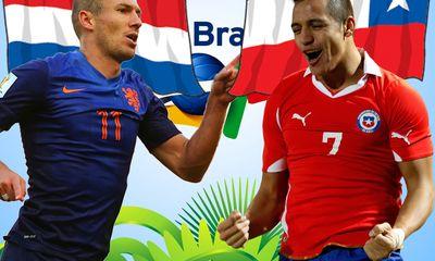 World Cup 2014: Dự đoán kết quả trận Hà Lan đấu với Chile