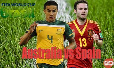 Dự đoán kết quả trận Tây Ban Nha đấu với Australia 23h (23/6)
