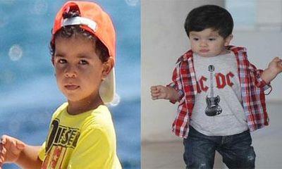 Con trai của Messi bị quý tử nhà Ronaldo chơi xỏ