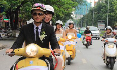 Bất ngờ với đám cưới 5 dâu 1 rể tại Hà Nội