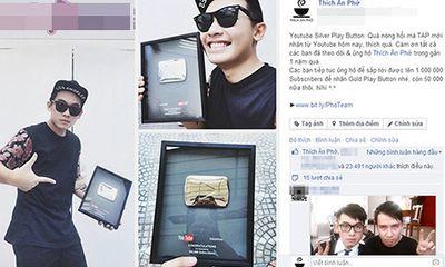 Thích Ăn Phở khoe giải thưởng Bạc của Youtube