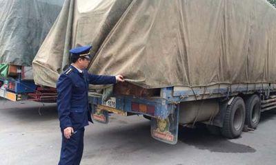 Chở quá tải, 11 xe gỗ bị xử phạt 110 triệu đồng