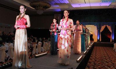 Người đẹp Hoa hậu Đại dương diện áo dài khoe dáng chuẩn
