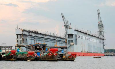 Đồng Nai: Ụ nổi 9 triệu USD đe dọa an toàn hàng hải cảng Gò Dầu