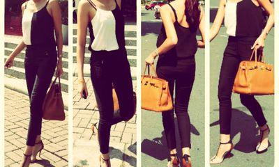 Style sao Việt tuần qua: Thanh Hằng sành điệu với đồ đen trắng