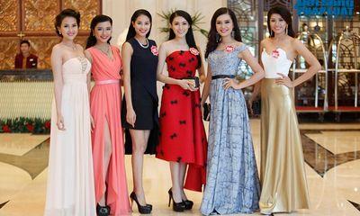 Thí sinh Hoa hậu Việt Nam rạng rỡ khoe sắc trong dạ tiệc tri ân