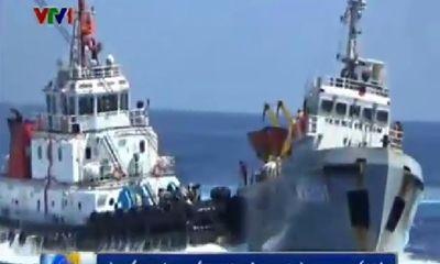 Tàu kiểm ngư 951 khắc phục thiệt hại do bị tàu TQ đâm