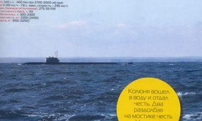 Lộ diện tàu ngầm hạt nhân bí mật của Nga trên tạp chí Top Gear