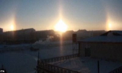 Kỳ lạ hiện tượng 3 mặt trời cùng xuất hiện cùng một lúc ở Mông Cổ