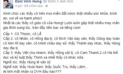 Ngày 20/11: Sao Việt gửi lời tri ân thầy cô giáo