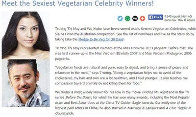 """Trương Thị May là """"Mỹ nhân ăn chay hấp dẫn nhất Châu Á"""