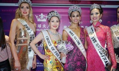 Ngân Hà đăng quang Á hậu 1 Hoa hậu quý bà toàn cầu 2014