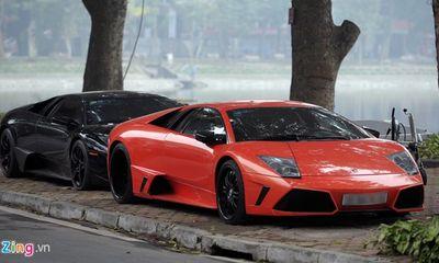 Đại gia Hà Nội khoe dàn siêu xe Lamborghini mừng năm mới Ất Mùi