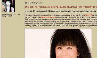 Quang Lê lên tiếng về việc bị danh ca Bạch Yến