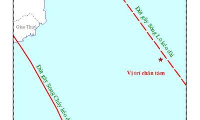 Động đất 2,9 độ Richter ở khu vực ngoài khơi Vịnh Bắc Bộ