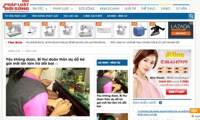 Xuất hiện website nhái phiên bản điện tử Báo Đời sống & Pháp luật