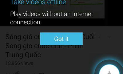 Đứt cáp, không có wifi vẫn xem được video trên YouTube