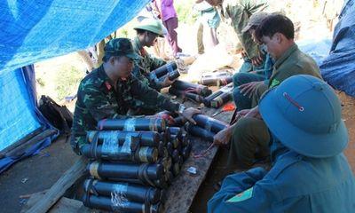 Tài nguyên - Quảng Ngãi: Kích nổ mìn đánh sập 60 hầm khai thác vàng trái phép