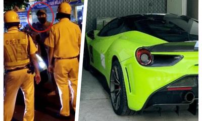 Khởi tố 3 người trong vụ tài xế siêu xe Ferrari chống đối CSGT