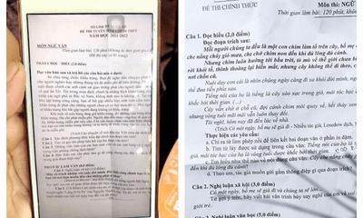 Thực hư thông tin đề thi Ngữ văn vào lớp 10 ở Nghệ An bị rò rỉ