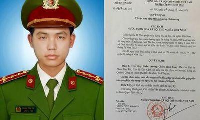 Truy tặng huân chương cho Đại úy công an hy sinh khi làm nhiệm vụ ở TP.HCM