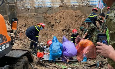 Hiện trường vụ lở đất kinh hoàng ở Hạ Long, 3 người tử vong