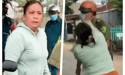 Bắt tạm giam người phụ nữ đánh công an viên vì bênh chồng ra đường không lý do