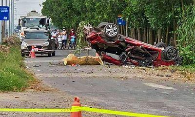 Vụ tai nạn thảm khốc ở Bắc Ninh, 3 người chết: Ô tô 5 chỗ biến dạng, lật ngửa giữa đường