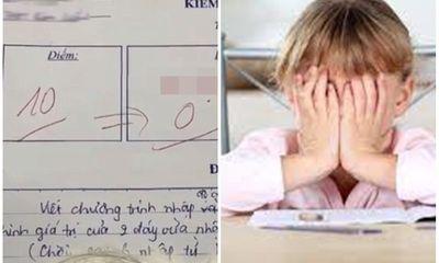 Bài kiểm tra từ 10 điểm bị giáo viên trừ còn 0 điểm, nguyên nhân do mắc phải điều cấm kỵ