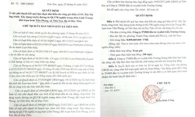 Hà Nam: Có dấu hiệu gian lận, vì sao Công ty Trường Giang vẫn liên tiếp trúng thầu?
