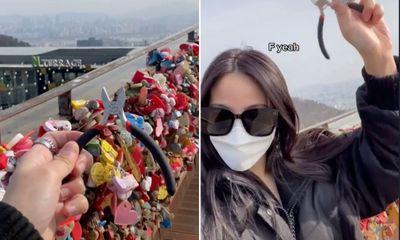 Cô gái xinh đẹp vượt gần 10.000km để xóa bỏ minh chứng với tình cũ trên đỉnh tháp Namsan