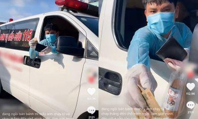 Chủ quán giật thót vì xe cứu thương đỗ ngay trước cửa, việc làm sau đó khiến ai cũng xúc động