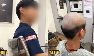 """Cậu bé được mẹ đưa đi cắt tóc, """"khóc thét"""" khi thấy thành quả, dân tình"""