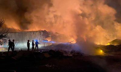 Đồng Nai: Công ty sản xuất nhựa bao bì bất ngờ cháy lớn trong đêm