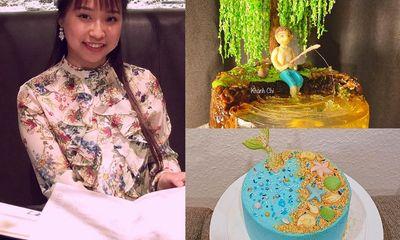 Cô nàng 9X làm bánh kem tạo hình thiên nhiên: Từ tổ ong, chậu bon sai tới bể cá sinh động không thể rời mắt