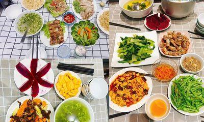 """""""Anh chồng quốc dân"""" trổ tài nấu cơm cữ cho vợ trong mùa dịch, bữa nào cũng vừa đẹp vừa ngon hết ý"""