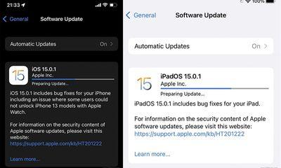 Tin tức công nghệ mới nóng nhất hôm nay 3/10: Apple phát hành iOS 15.0.1 và iPadOS 15.0.1