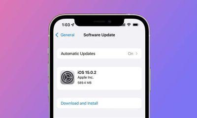 Tin tức công nghệ mới nóng nhất hôm nay 13/10: Apple ra mắt bản cập nhật iOS 15.0.2