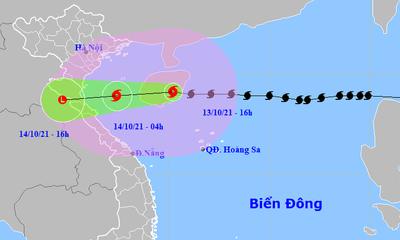 Bão số 8 giật cấp 12, dự báo đổ bộ vào khu vực từ Thanh Hóa đến Quảng Bình