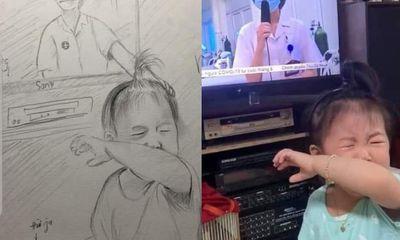 Dân mạng tái hiện lại nỗi vất vả của y, bác sĩ tại tâm dịch Bắc Giang bằng tranh vẽ