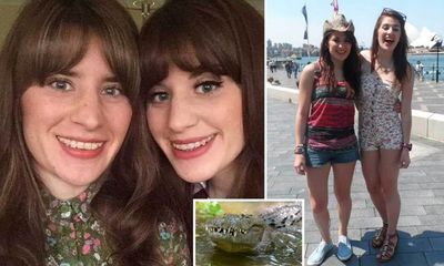 Chị cứu em gái song sinh thoát chết nhờ đấm liên tục vào mặt cá sấu