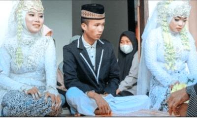 Chú rể 20 tuổi kết hôn với 2 cô dâu cùng một lúc, danh tính của các thiếu nữ khiến dân mạng ngã ngửa